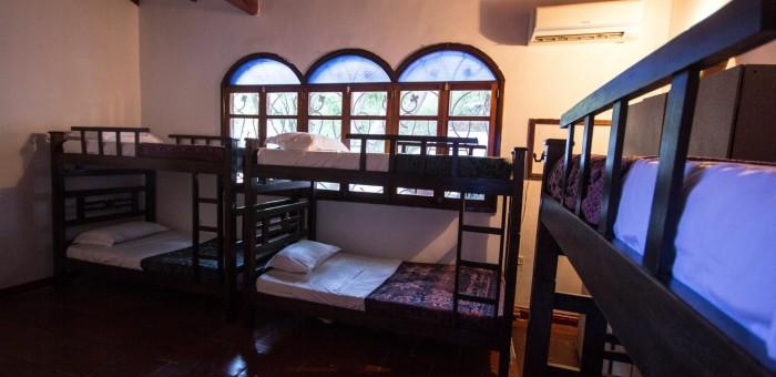 Dorm room at Casa Moringa